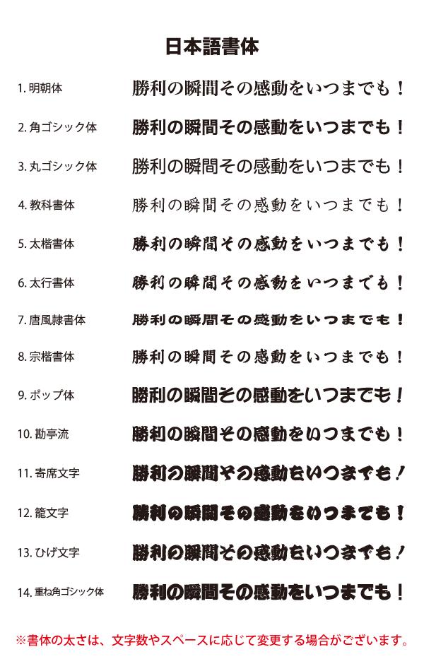 フリーページ用・オプション書体日本語