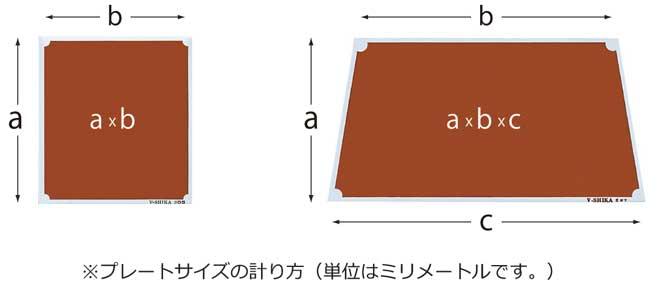 アルミプレートサイズ