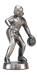 バスケットボール女ブロンズ人形