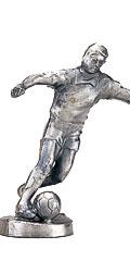サッカーブロンズ人形