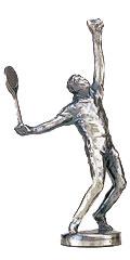 テニスブロンズ人形